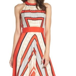 Eliza J Scarf Fit & Flare Maxi dress